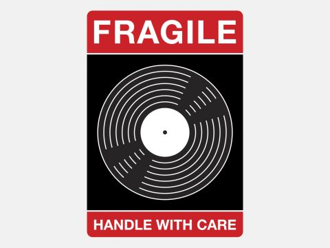 Vinyl Shipment Stickers - Handle With Care