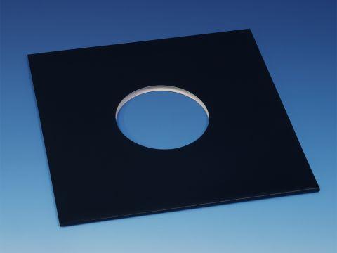 "10"" Cardboard Jackets - Black, Center Holes"