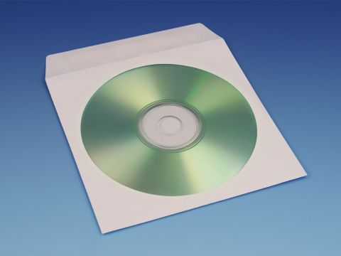 Paper CD Sleeves – White, With Flap