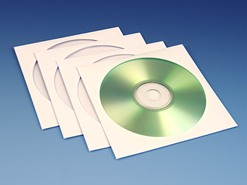 Paper CD Sleeves - White with Flap